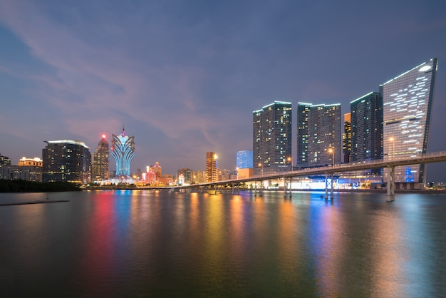 Immagine di macau (macao), cina. grattacielo hotel e casinò edificio nel centro di macao (macao).