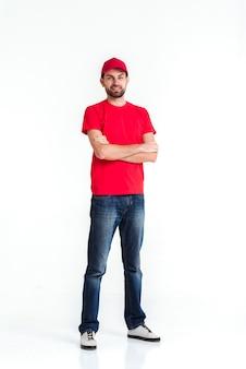 Immagine di un giovane uomo lungo consegna