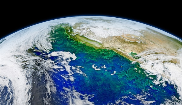Immagine satellitare della terra. originale dalla nasa. miglioramento digitale di rawpixel. | immagine gratis di rawpix