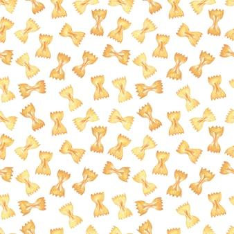 Immagine senza cuciture dell'acquerello pasta italiana. varietà di pasta