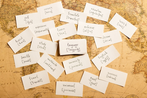 Imparare le parole inglesi. linguaggio