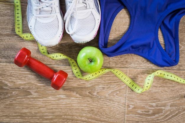 Impostare per attività sportive sul pavimento piastrellato