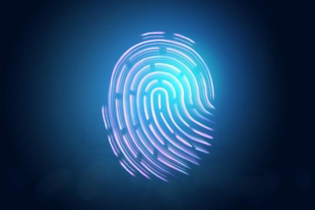 Impronta digitale ologramma futuristico