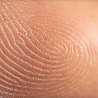 Impronta digitale, super macro