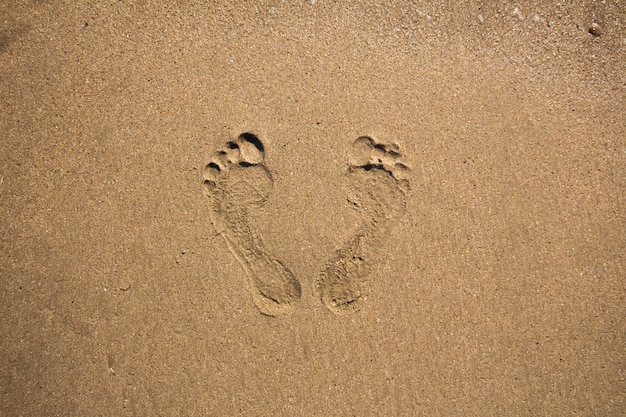 Impronte nella sabbia