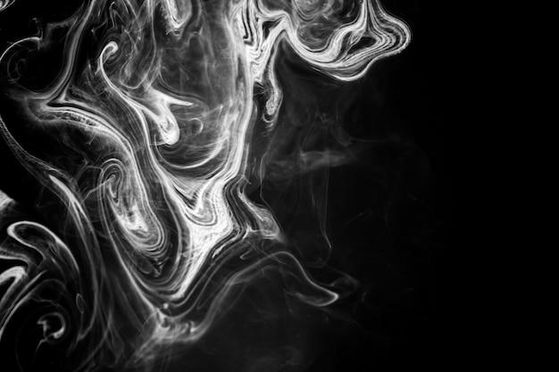 Inchiostro di texture astratta su acqua in bianco e nero di colore per lo sfondo