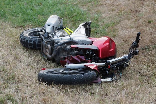 Incidente in moto con moto caduta