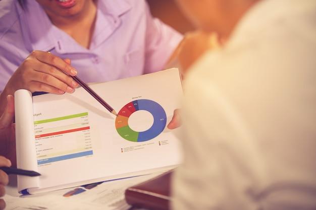Incontro di consulenti aziendali per analizzare e discutere la situazione