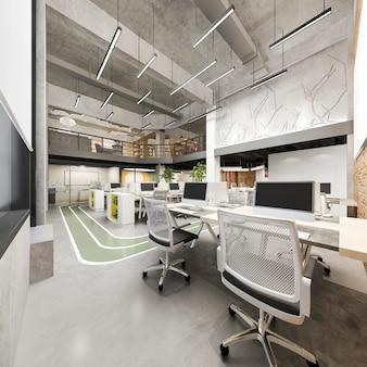 Incontro di lavoro e sala di lavoro su edificio per uffici