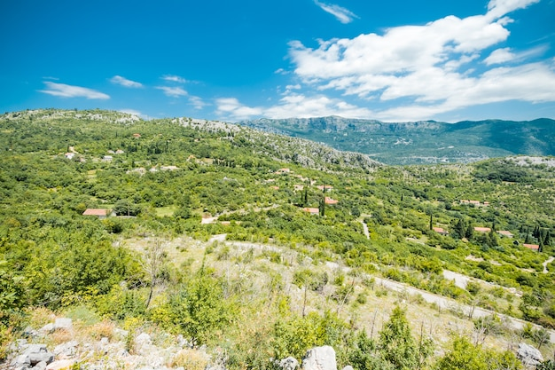 Incredibile paesaggio di montagna in montenegro
