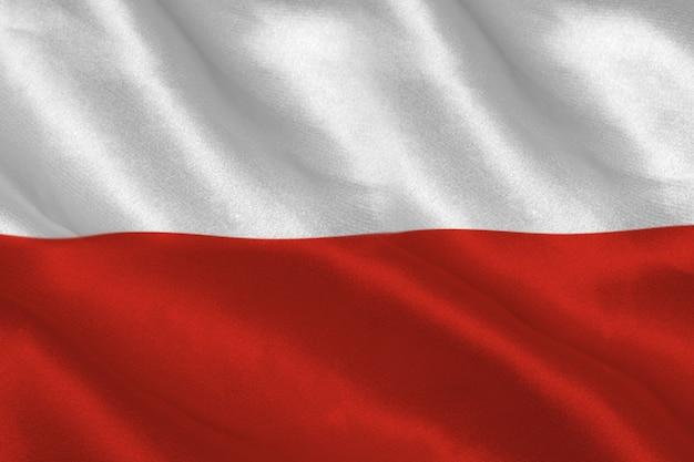 Increspatura della bandiera polacca generata digitalmente