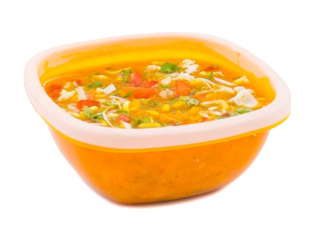 Indian street chat food ragda pattice