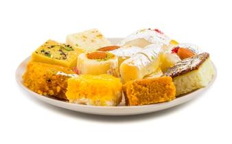 Indiano delizioso mix cibo dolce