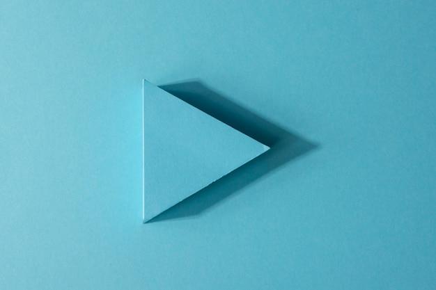 Indicatore di freccia blu vista dall'alto