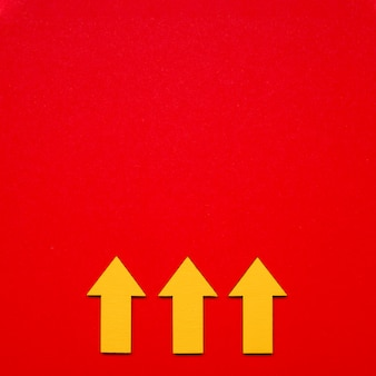 Indicatore frecce copia-spazio