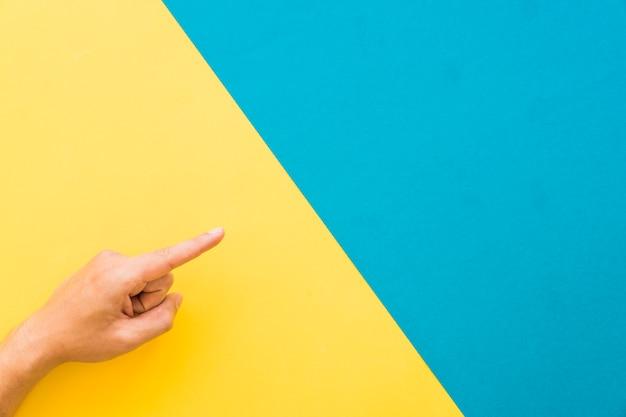 Indicazione di dito