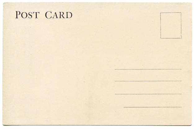 Indietro della cartolina in bianco vintage.