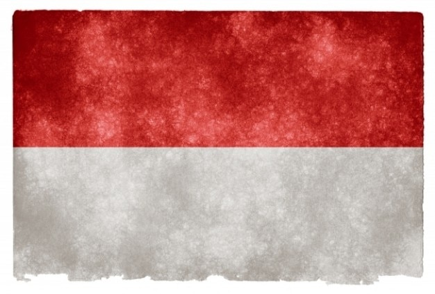 Indonesia grunge flag