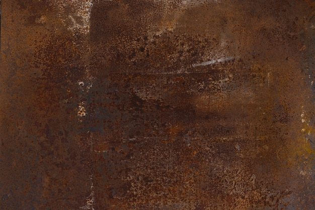 Indossato sfondo texture metallo arrugginito.