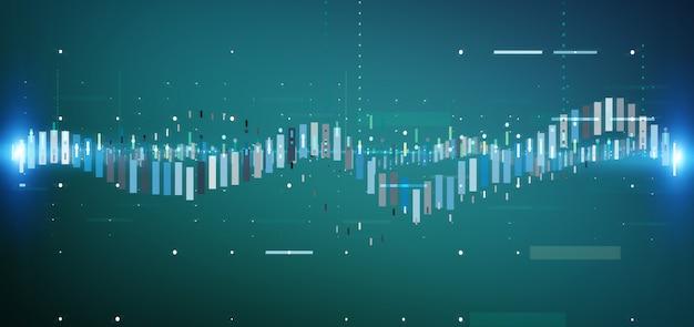 Informazioni commerciali di scambio di borsa valori di affari