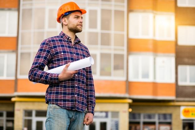 Ingegnere ingegnere costruzione m elettricista