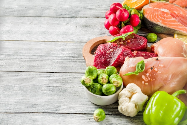 Ingredienti alimentari dietetici alla moda pegan