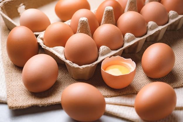 Ingredienti alimentari organici delle uova di gallina