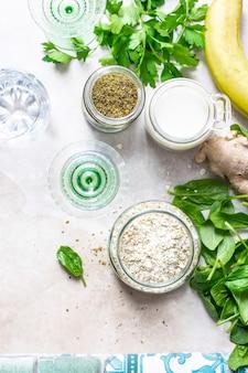 Ingredienti di cottura biologici sani