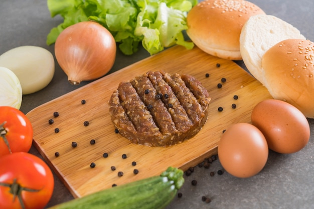 Ingredienti di hamburger