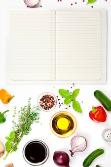 Ingredienti freschi per cucinare