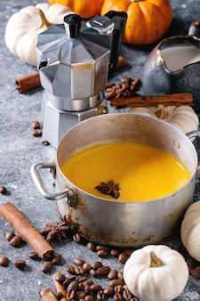 Ingredienti per il latte di zucca