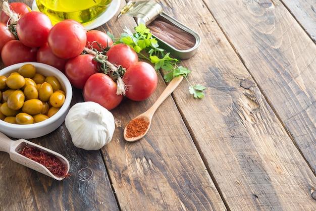 Ingredienti tipici della spagna