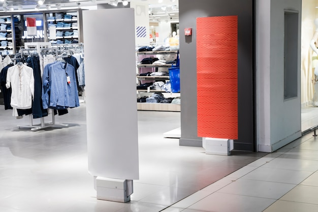 Ingresso al negozio di abbigliamento interno