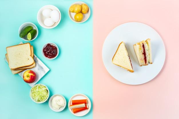 Inkigayo sandwich coreano con ingredienti