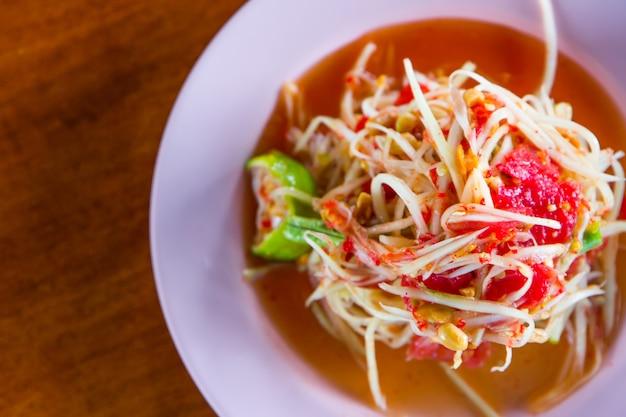 Insalata di papaya verde, cibo preferito tailandese