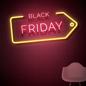 Insegna al neon del black friday