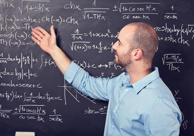 Insegnante al lavoro