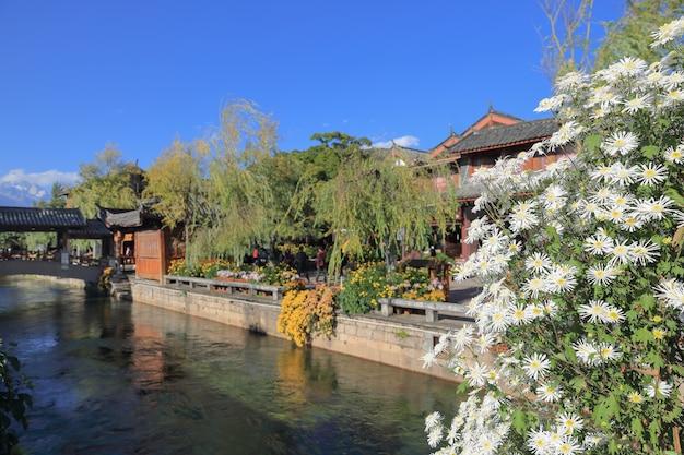 Insenatura alla vecchia città di lijiang, sito del patrimonio mondiale, yunnan, cina, asia