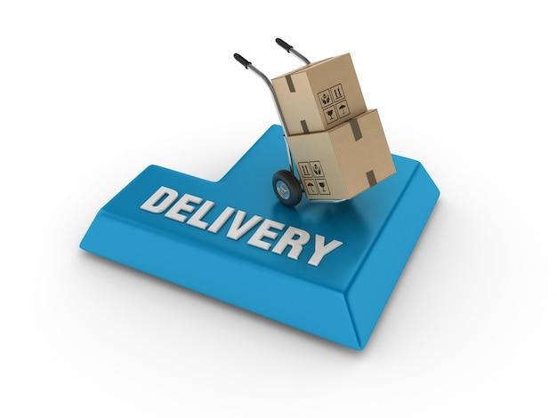 Inserisci chiave con carrello a mano e parola di consegna