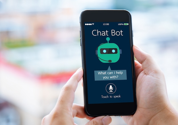 Intelligenza artificiale ai chat bot concept