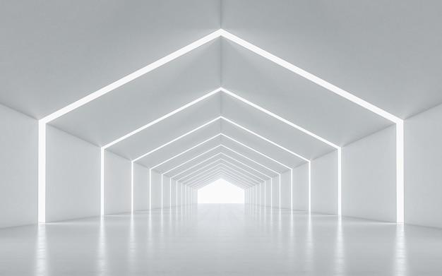 Interior design del corridoio illuminato