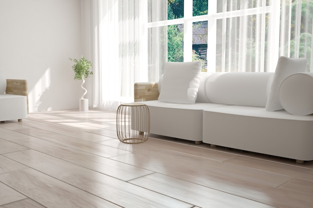 Interior design moderno. illustrazione 3d