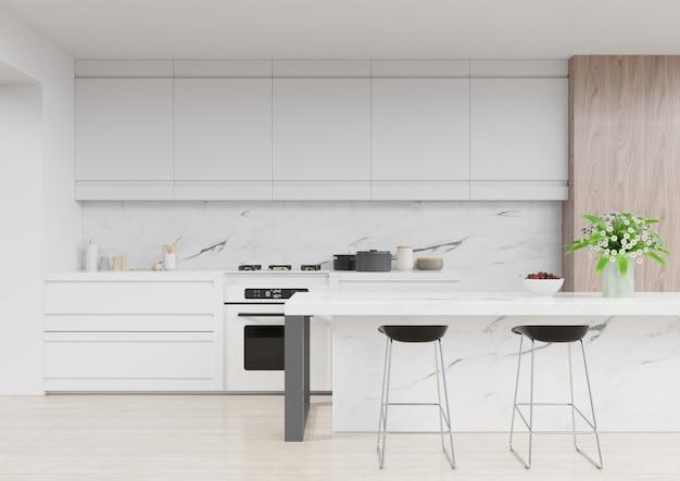 Interiore moderno della stanza della cucina, stanza moderna del ristorante