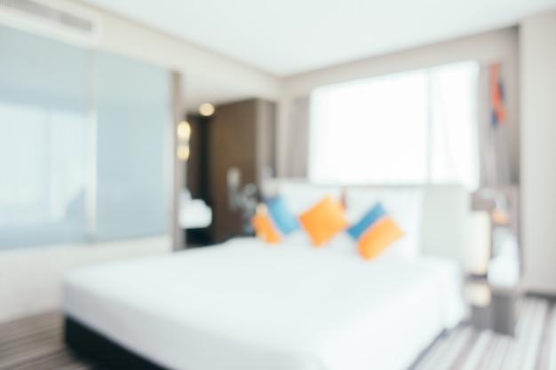 Interni della camera da letto di sfuocatura astratta per lo sfondo
