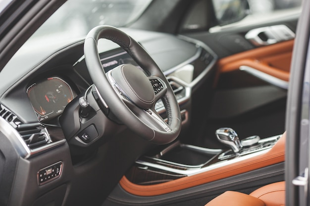 Interni di automobili. interno del veicolo auto. ancora di auto dentro.