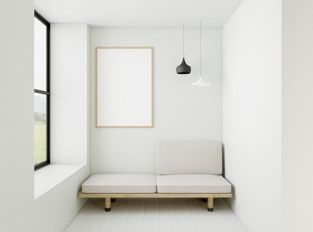 Interni minimalisti con elegante cornice
