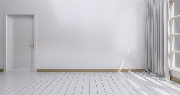 Interni moderni luminosi stanza vuota.