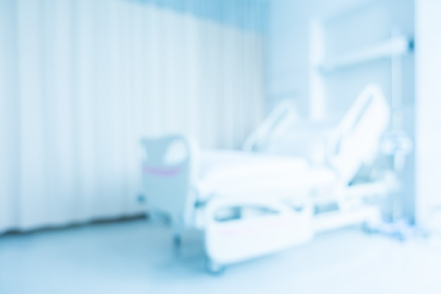 Interno astratto dell'ambulatorio e della clinica della sfuocatura