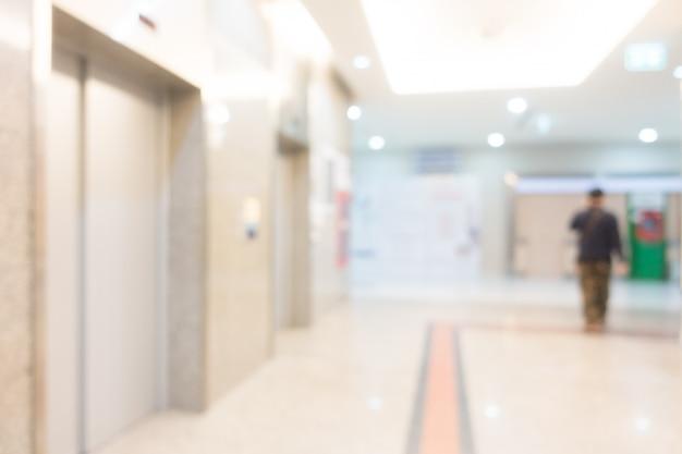 Interno astratto dell'ospedale della sfuocatura per fondo