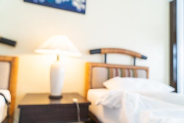 Interno astratto della camera da letto della sfuocatura per fondo